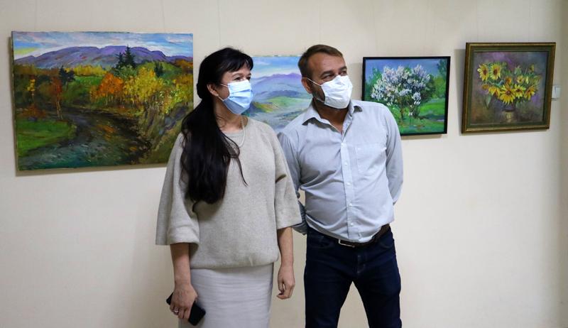 Відкриття першої персональної виставки Олександра Танасюка
